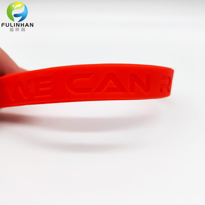 embossed logo wristband