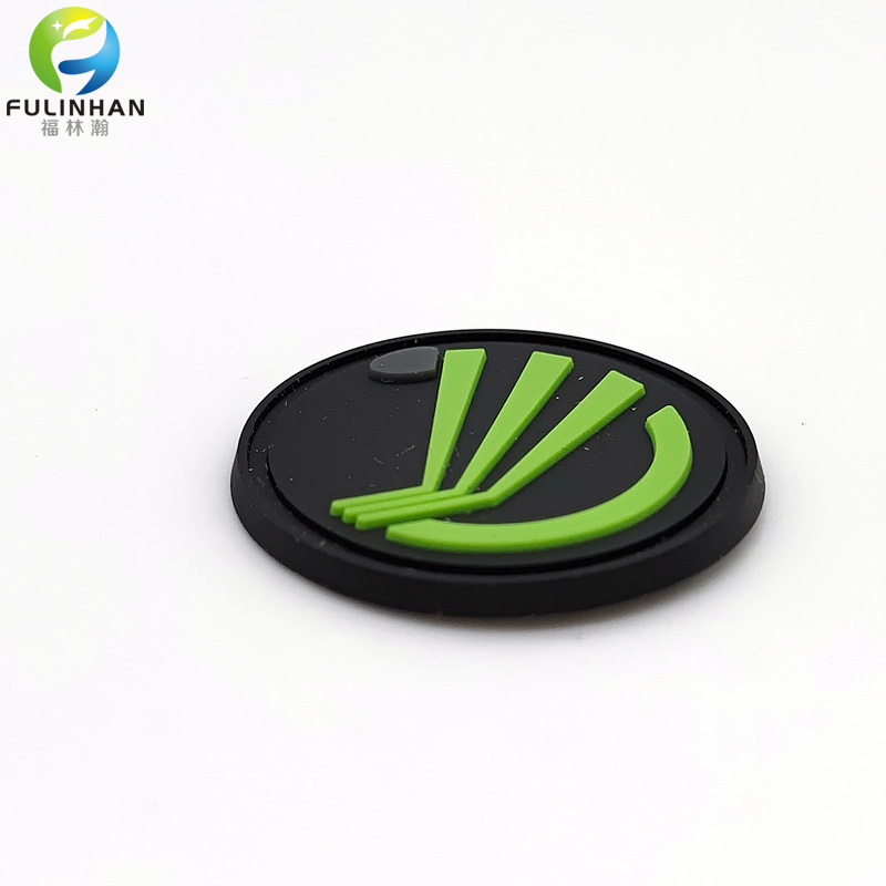 silicone labels with green logo