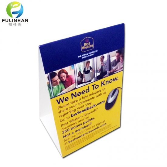 Hotel Table Tent Cards