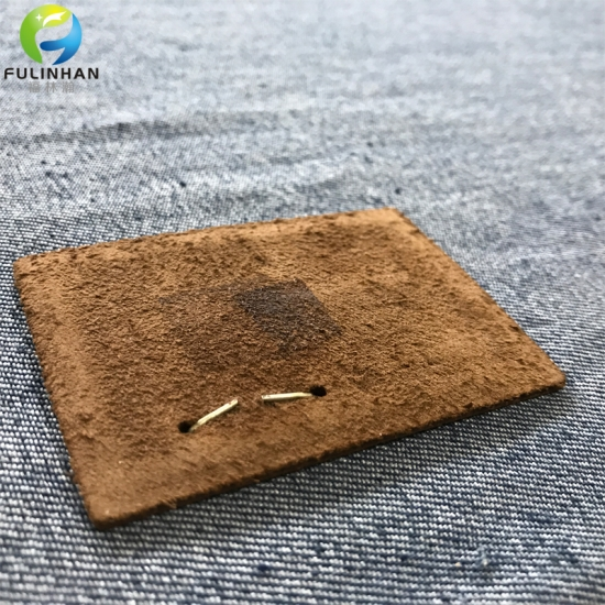 clothing jeans leather patches with metal