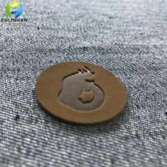 Embossed Logo Leather Patches for Jeans