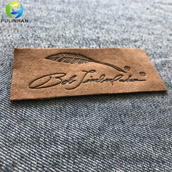 Jeans Leather  embossed labels
