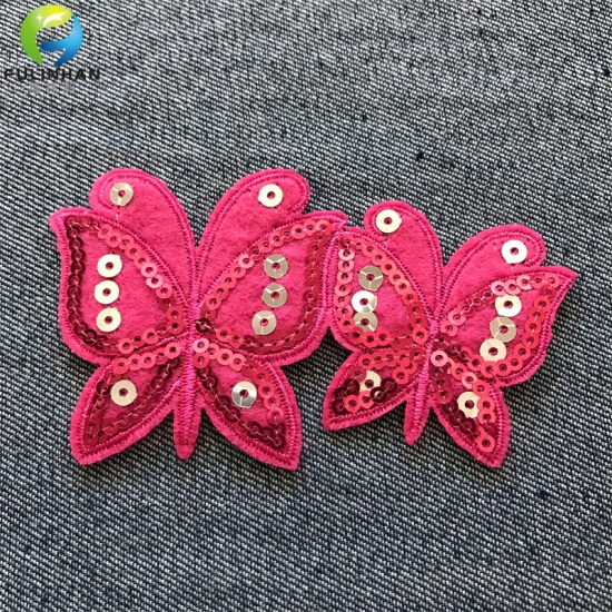 Sew On Embroidered Sequin  Patches