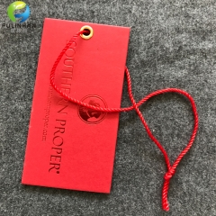Paper Stamping Hang Tags with  Cord