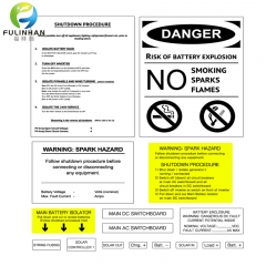Solar Danger Warning Label