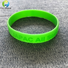 Silicone Debossed logo Wristbands