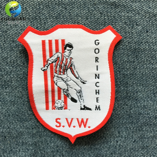 Glue Backing  woven patch labels