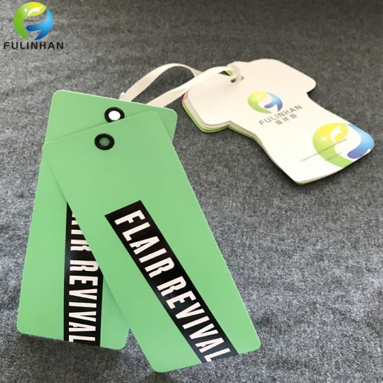 clothing hang tags with eyelet