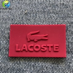 badge in rilievo di silicone per indumenti