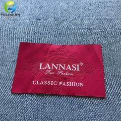 End Fold Woven Label